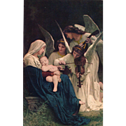"""SOLD """"Song of the Angels"""" Forest Lawn Park Glendale CA California Vintage Postcard"""