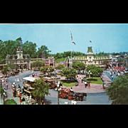 SOLD Town Square Main Street Disneyland Anaheim CA California Vintage Postcard