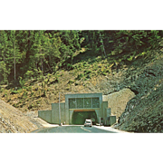 Randolph Collier Tunnel Northern CA California Vintage Postcard