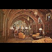 SOLD The Gothic Study Hearst Estate San Simeon CA California Vintage Postcard