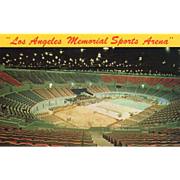 Los Angeles Memorial Sports Arena Los Angeles CA California Vintage Postcard