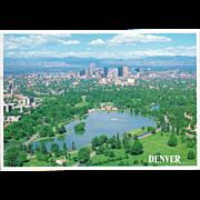 Aerial View Denver CO Colorado Vintage Postcard