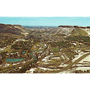 View of City and Table Mountains Golden CO Colorado Vintage Postcard