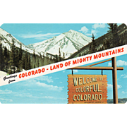 Two Views Greetings from Land of Mighty Mountains CO Colorado Vintage Postcard