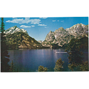 Jenny Lake Grand Teton National Park WY Wyoming Vintage Postcard