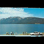 Jackson Lake Grand Teton National Park WY Wyoming Vintage Postcard