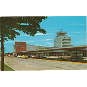 General Mitchell Field Air Terminal Milwaukee Wisconsin WI Vintage Postcard