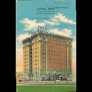 Hotel Frye 3rd Avenue at Yesler Way Seattle Washington Vintage Postcard