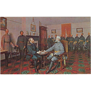 The Surrender of General Lee to General Grant VA Virginia Vintage Postcard