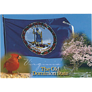 The Old Dominion State VA Virginia Vintage Postcard
