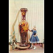 World's Largest Vase Valley Pottery New Market Virginia Vintage Postcard