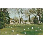National Cemetery Winchester VA Virginia Vintage Postcard