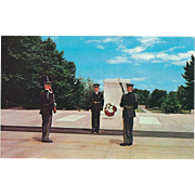 Tomb of the Unknowns Arlington National Cemetery Virginia Vintage Postcard