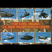 U S Army Transportation Center Fort Eustis VA Virginia Vintage Postcard