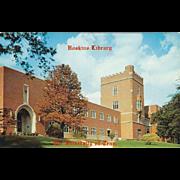 James D. Hoskins Library UT Knoxville TN Tennessee Vintage Postcard