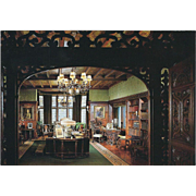 Library Stan Hywet Hall and Gardens Akron OH Ohio Vintage Postcard