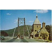 The Toll Gate Bear Mountain Bridge Bear Mountain NY New York Vintage Postcard