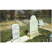 Kit Carson's Grave Taos NM New Mexico Vintage Postcard