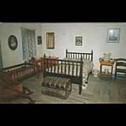 Bedroom Kit Carson Home Taos NM New Mexico Vintage Postcard