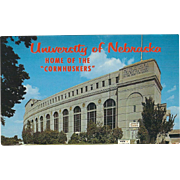 Memorial Stadium University of Nebraska Lincoln NE Nebraska Vintage Postcard