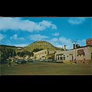El Portal Hotel and Goat Hill Raton NM New Mexico Vintage Postcard