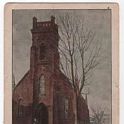 Camden New York NY Episcopal Church Postcard