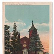 M. E. Church Clifton Springs New York NY Postcard