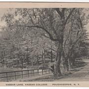 Vassar Lake Vassar College Poughkeepsie NY New York Vintage Postcard