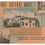 Old Fort Cottage Hotel East Lynchburg VA Virginia Intersection Routes 460 & 501