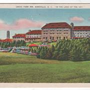 Grove Park Inn Asheville NC North Carolina in the Land of the Sky Vintage Postcard