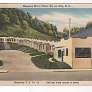 Miagene Motor Court Highway U S No 19 100 Feet from Center of Town Bryson City NC North Caroli