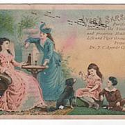 SOLD Victorian Trade Card Ayer's Sarsaparilla Invalid Lady - Red Tag Sale Item