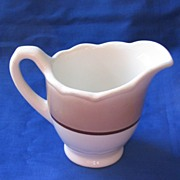 Syracuse China Brown and White Creamer