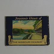 Miniature Souvenir Folder of The Missouri Ozarks