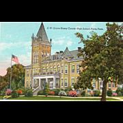 E. W. Grove Henry County High School Paris TN Tennessee Postcard