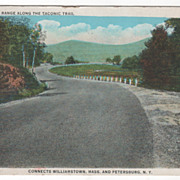 Hoosic Mt Range along the Taconic Trail Connects Williamstown MA Massachusetts and Petersburg NY New York Vintage Postcard