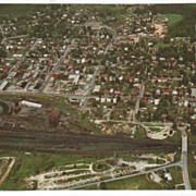 SOLD Aerial View of Crewe VA Virginia - Chrome Curteichcolor 3-D Natural Color Repro