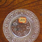 Early American Pressed Glass Egg in the Sand Cup Plate