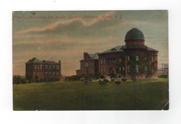 Dudley Observatory Bender Hygienic Laboratory Albany New York postcard
