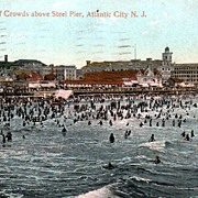 View of Crowds above Steel Pier, Atlantic City, NJ