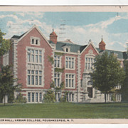 Rockefeller Hall Vassar College Poughkeepsie NY New York Vintage Postcard