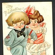 My Valentine Postcard Signed Mary Eleanor George