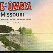 SOLD Souvenir Folder of Lake of the Ozarks Missouri - Red Tag Sale Item