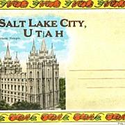 Souvenir Folder Salt Lake City Utah