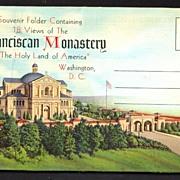 Souvenir Folder Franciscan Monastery Washington, D. C.