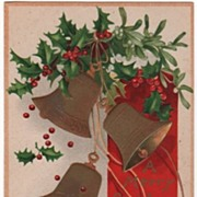 Signed Clapsaddle Christmas Postcard A Merry Christmas