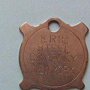 Erie Steel Company New York Metal Tag
