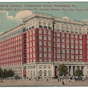 Color Pre-linen Postcard Curtis Publishing Company Philadelphia