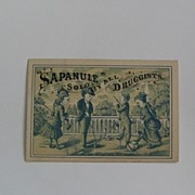 SOLD Sapanule Cure All Sold by All Druggists Trade Card - Red Tag Sale Item