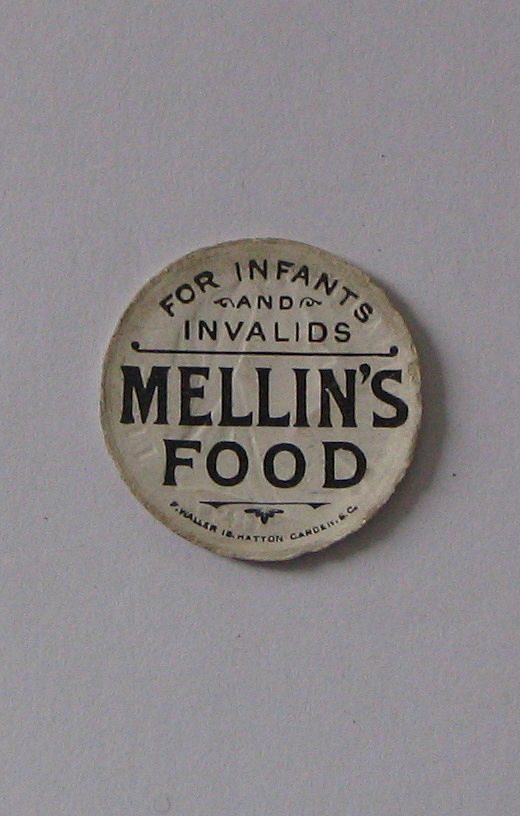 Advertising Paper Bottle Cap Mellin's Food for Infant & Invalid